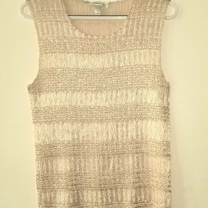 Tank sleeveless blouse. Ivory colored size large